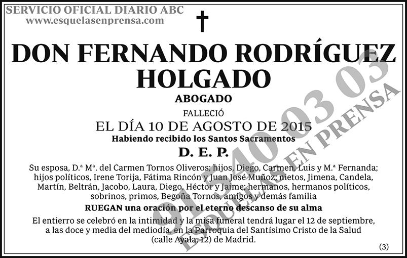 Fernando Rodríguez Holgado